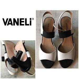 New Vaneli Black & White Heels